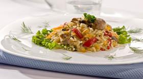 Ριζότο με στάρι, πλιγούρι και λαχανικά