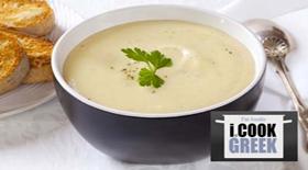 Πατατόσουπα βελουτέ με γιαούρτι