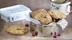Cookies με Βρώμη, Cranberries, και Κομματάκια Λευκής Σοκολάτας