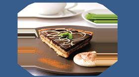 Τάρτα με αχλάδι, σοκολάτα και φουντούκια από το Canderel Green