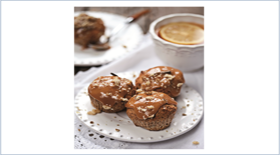 Muffins με λιωμένη αλατισμένη καραμέλα από το Canderel Green