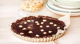 Τάρτα full σοκολάτας νηστίσιμη, χωρίς ζάχαρη και αυγά και χωρίς ψήσιμο