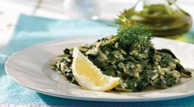 Σπανακόρυζο κλασικό λεμονάτο